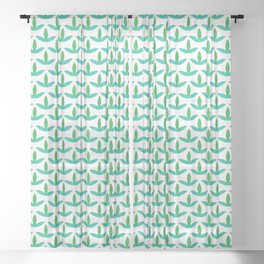 Spring trefoil leaves seamless vector pattern. Sheer Curtain