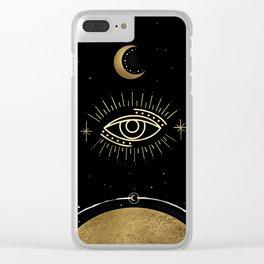 La Luna Evil Eye Clear iPhone Case