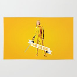 Fight Like a Girl: Beatrix Kiddo Rug