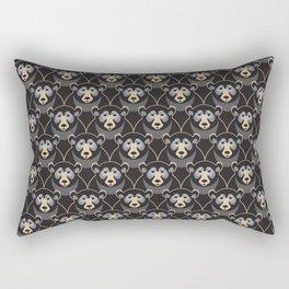 Little Black Bears Rectangular Pillow
