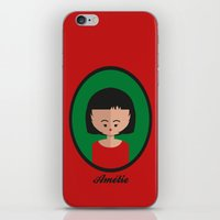 amelie iPhone & iPod Skins featuring Amelie by Juliana Motzko