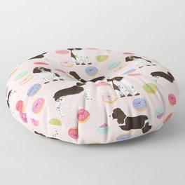 English Springer Spaniel donuts funny dog gifts perfect for spaniel owner pet portraits Floor Pillow