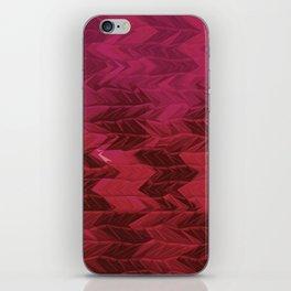 Red Faded Chevron iPhone Skin