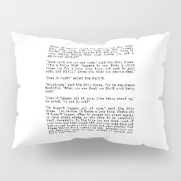 Becoming Real, Velveteen Rabbit Quote Pillow Sham