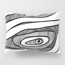 Black Waves Linework Pillow Sham