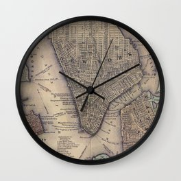 Lower Manhattan New York City Wall Clock