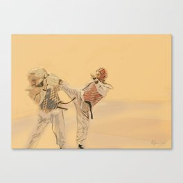 Tae Kwon Do Head Kick Canvas Print