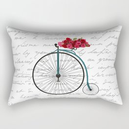 Floral Bike Rectangular Pillow