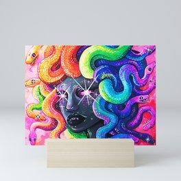 Rainbow Medusa Mini Art Print