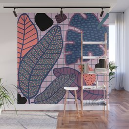 Palm & Monstera Leaves Wall Mural