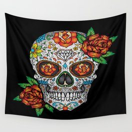 Sugar Skull, Day Of The Dead Wall Tapestry