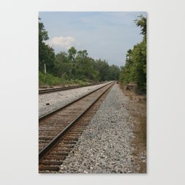 Railroad Tracks To No Where Canvas Print