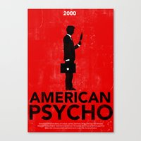 american psycho Canvas Prints featuring American Psycho by Moustafa Hassan