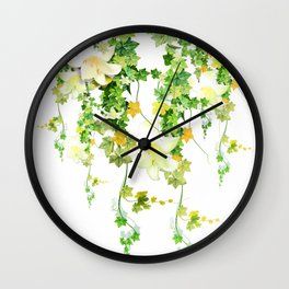 Watercolor Ivy Wall Clock