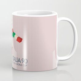 Vintage World Cup poster, Ciao, Italia 90 mascot, old football print Coffee Mug
