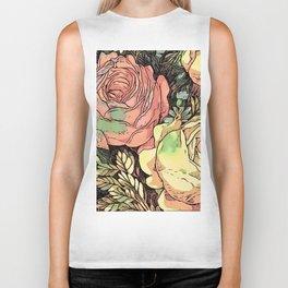 Wonderful toony Roses Biker Tank