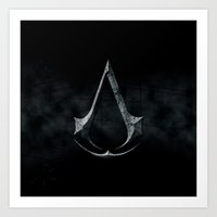 assassins creed Art Prints featuring Assassins Creed Dark Stone  by alifart