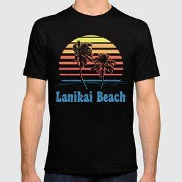 Lanikai Beach Hawaii Sunset Palm Trees T-shirt