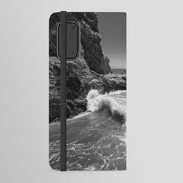 Waves crash along Rancho Palos Verdes coastline Android Wallet Case