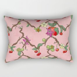 Cherries and Vine Rectangular Pillow