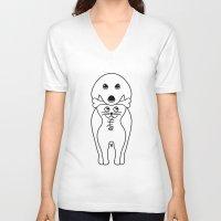 karma V-neck T-shirts featuring karma by creaziz