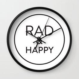 Rad & Happy Wall Clock