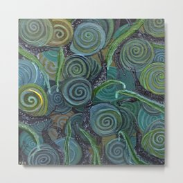 An Escargatoire of Snails Metal Print