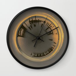 Sunrise Pier Sphere Wall Clock
