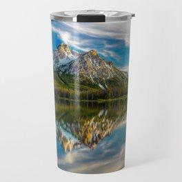 Sawtooth Range Morning Reflection Travel Mug