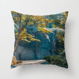 Autumn in a beautiful garden in Australia Throw Pillow