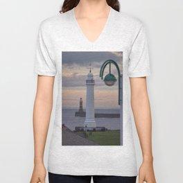 Seaburn and Roker Lighthouse. Unisex V-Neck