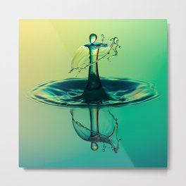 Water Drop Metal Print