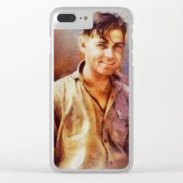 Clark Gable, Vintage Hollywood Actor Clear iPhone Case
