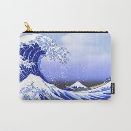 Surf's Up! The Great Wave Carry-All Pouch