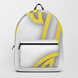 Letter H in Yellow Backpack