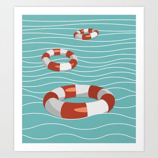 Lifesaver? Art Print