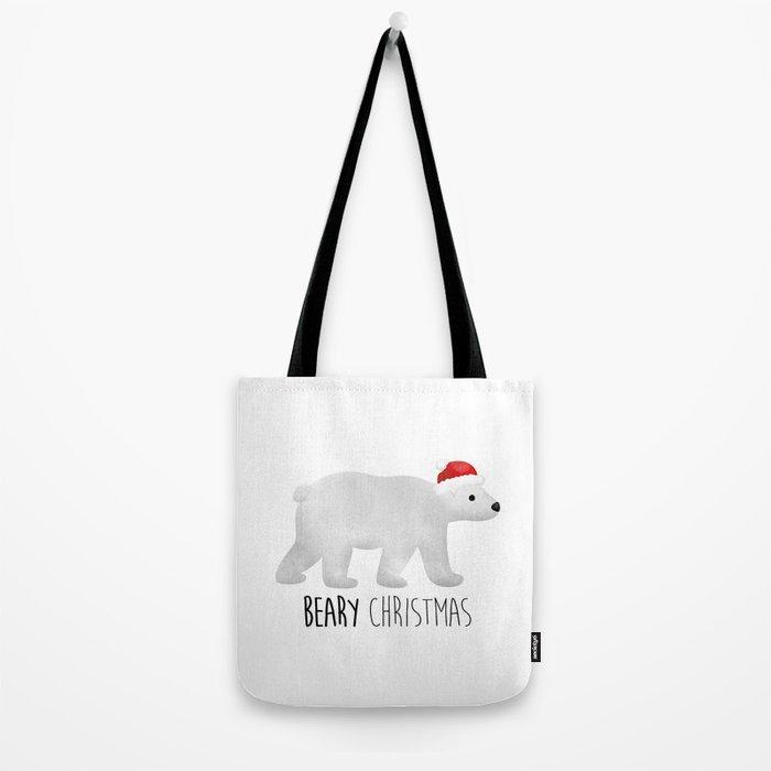 Beary Christmas   Polar Bear Tote Bag