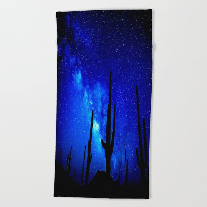 The Milky Way Blue Beach Towel