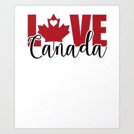 Love Canada Canadian Christmas Gift Art Print