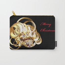 Fractal Christmas Ribbon Carry-All Pouch