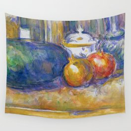"Paul Cezanne ""Still-Life with a Watermelon and Pomegranates"" Wall Tapestry"