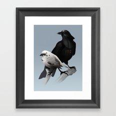 The Dark Side of the Flock Framed Art Print