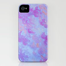 PURPLE PLUMES - Soft Pastel Wispy Lavender Clouds Lilac Plum Periwinkle Abstract Acrylic Painting  Slim Case iPhone (4, 4s)