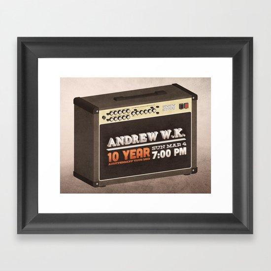 Andrew W.K. Framed Art Print