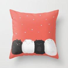 Sleep like Cats Throw Pillow