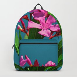 Pretty in pink under turquoise sky Backpack