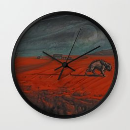 In the Borderlands Wall Clock