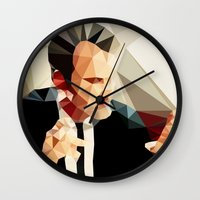 reservoir dogs Wall Clocks featuring Quentin Tarantino // Reservoir Dogs by VIVA LA GRAPH!
