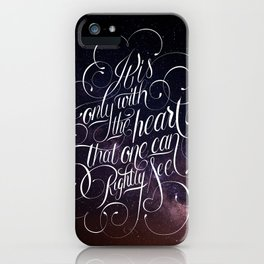 Only with the heart iPhone Case