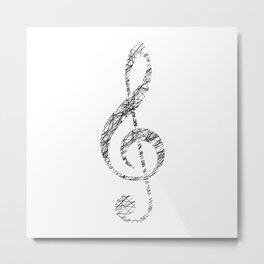 Scribble sol key Metal Print